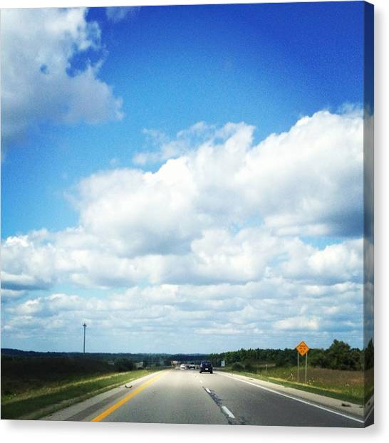 Trip Canvas Print - Open Road by Christy Beckwith