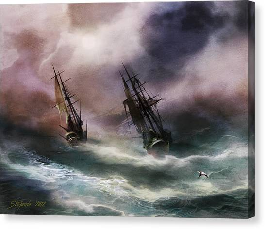 Open Sea Dangerous Drift Canvas Print