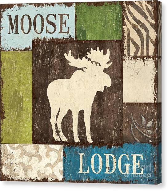 Moose Canvas Print - Open Season 1 by Debbie DeWitt