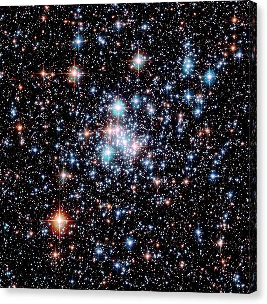 Open Star Cluster Ngc 290 Canvas Print by E. Olszewskiu. Arizonanasaesastsci