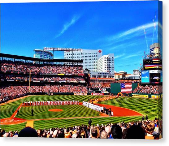 Opening Day 2014 In Baltimore Canvas Print