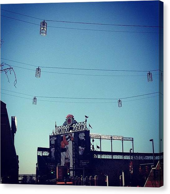 Orioles Canvas Print - Opening Day! #orioles #camdenyards by Jordan Bauman