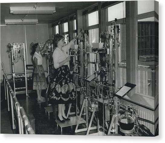 Opening Of The Warren Spring Laboratory... Research Into Canvas Print by Retro Images Archive