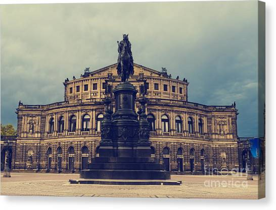 Opera House In Dresden Canvas Print