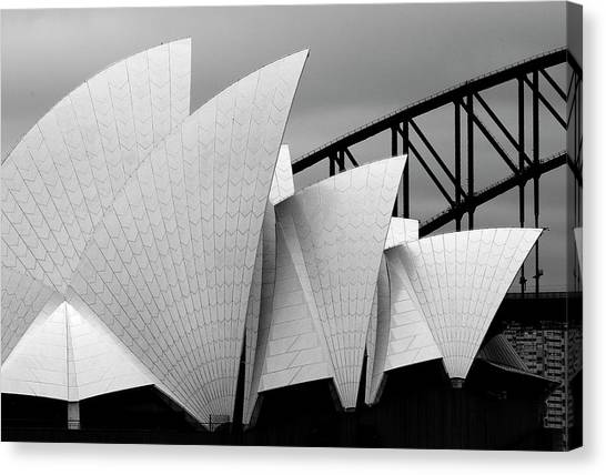 Dragons Canvas Print - Opera House Sydney by Alida Van Zaane