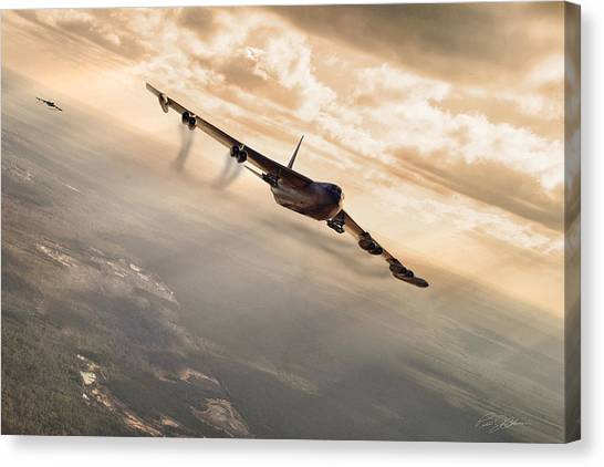 Linebackers Canvas Print - Operation Arc Light by Peter Chilelli
