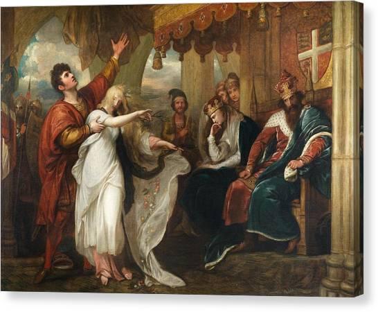 English And Literature Canvas Print - Ophelia And Laertes by Benjamin West