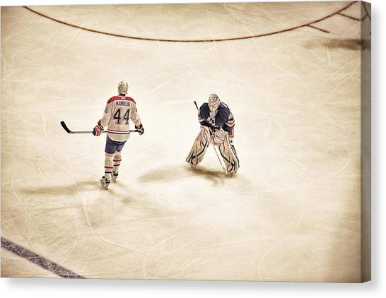 New York Rangers Canvas Print - Opponents by Karol Livote
