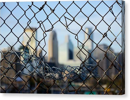 Chain Link Fence Canvas Print - Opportunity by Jim Hughes