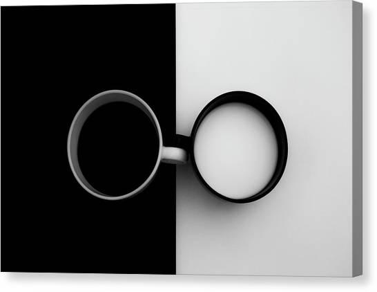 Milk Canvas Print - Opposites Attract by Carmen Gradinaru