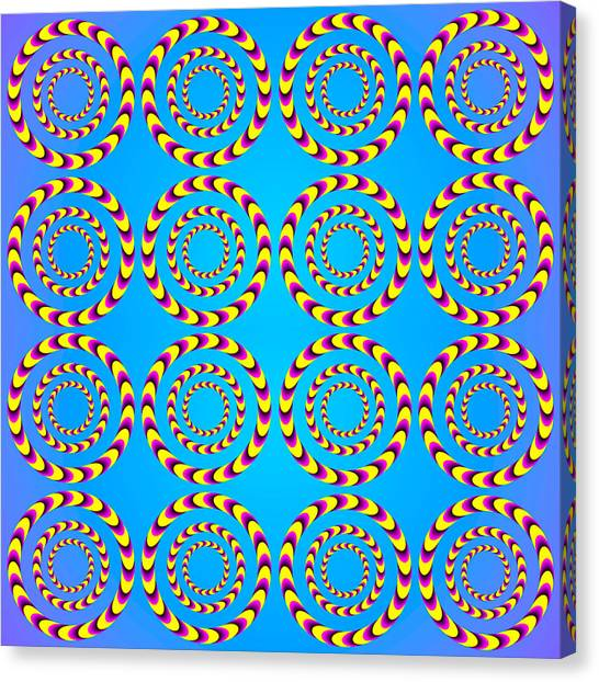 Optical Illusion Spinning Wheels Canvas Print