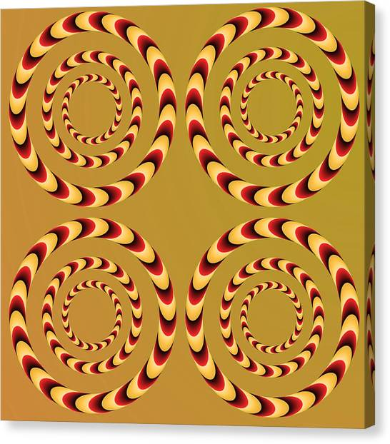 Optical Ilusions Summer Spin Canvas Print