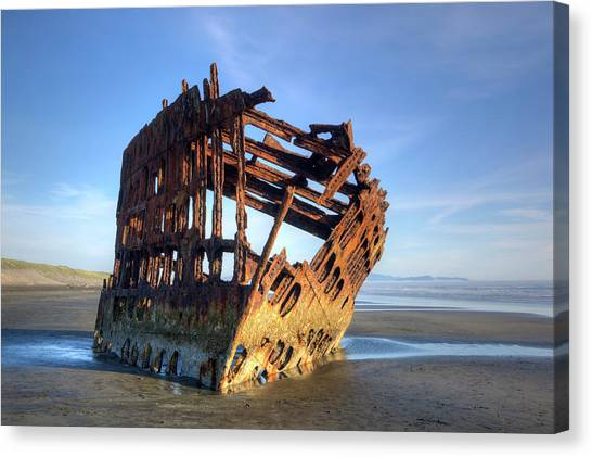 Or, Fort Stevens State Park, Wreck Canvas Print by Jamie and Judy Wild