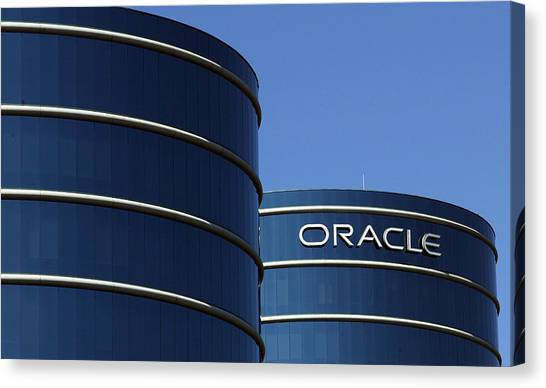 Oracle Makes Hostile Bid For Rival Peoplesoft Canvas Print by Justin Sullivan