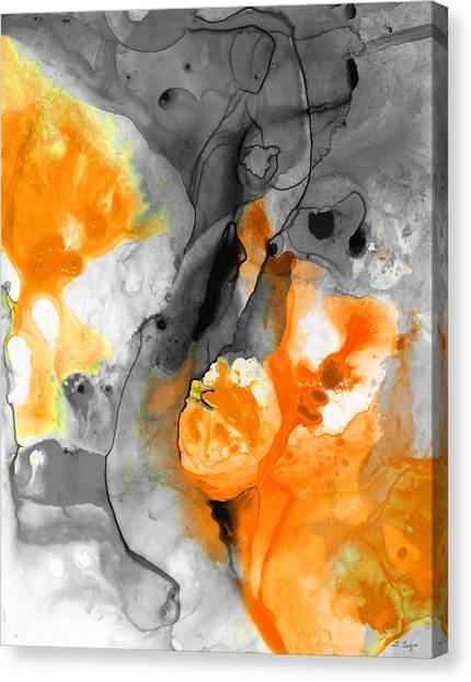 Tangerine Canvas Print - Orange Abstract Art - Iced Tangerine - By Sharon Cummings by Sharon Cummings