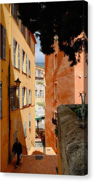 Orange Alley Canvas Print