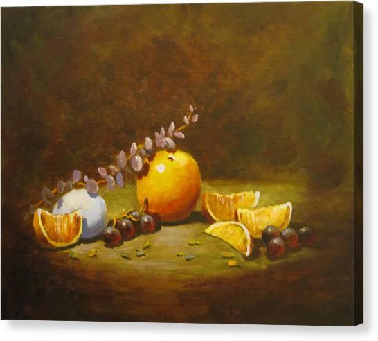 Orange And Egg Canvas Print