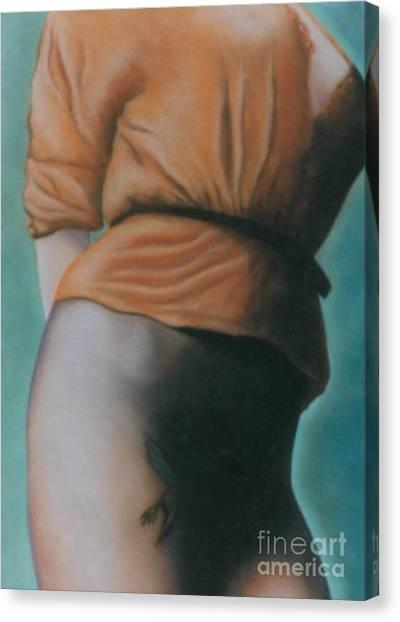 Orange Blouse Canvas Print