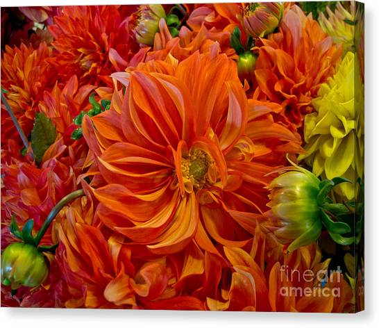 Orange Bouquet Canvas Print