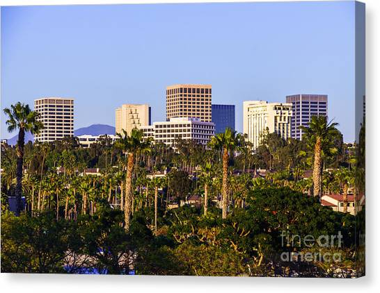 Orange County California Office Buildings Picture Canvas Print by Paul Velgos