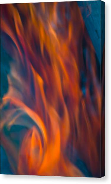 Orange Fire Canvas Print