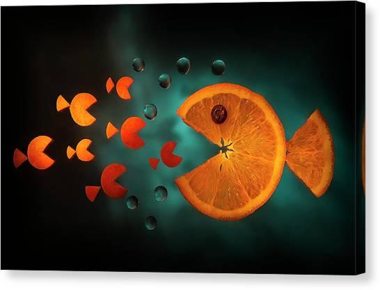 Orange Fish Canvas Print by Aida Ianeva