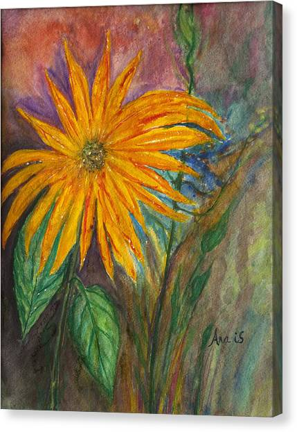 Orange Flower Canvas Print by Anais DelaVega
