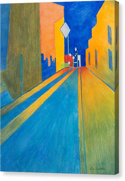 Orange France At Night Canvas Print