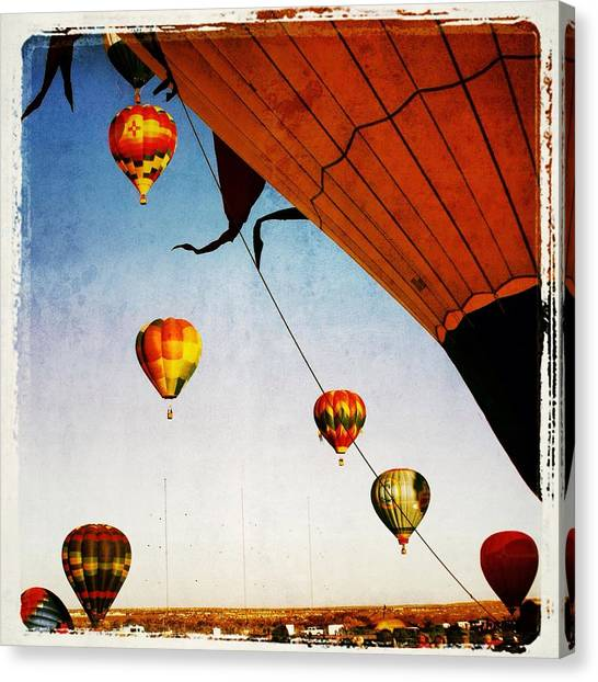 Hot Air Balloons Canvas Print - Orange In The Air by Susan See