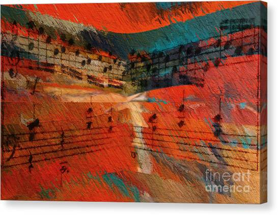 Orange Intermezzo Canvas Print