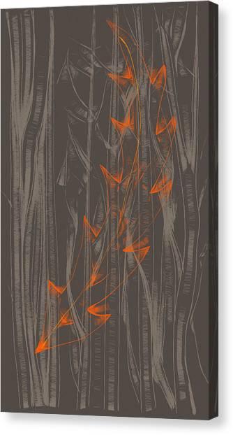 Orange Leaf Canvas Print by Lori Ulatowski