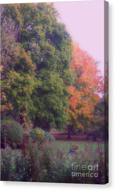 Orange Leaves - Monet Canvas Print