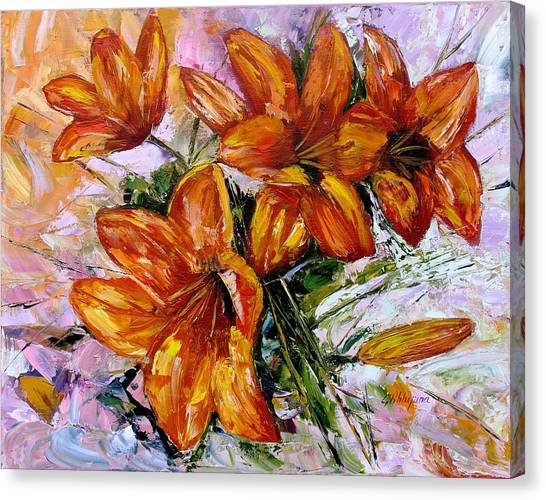 Orange Lilies Canvas Print