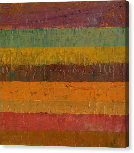 Orange Line Canvas Print