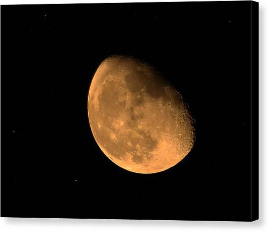 Orange Moon Canvas Print