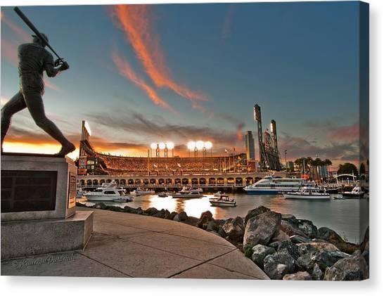 Stadiums Canvas Print - Orange October 2012 Celebrates The San Francisco Giants by Jorge Guerzon