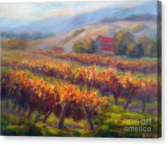 Orange Red Vines Canvas Print