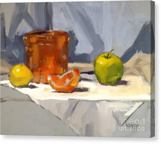 Orange Reflections Canvas Print