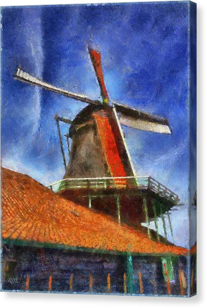 Orange Sails Canvas Print by Rick Lloyd