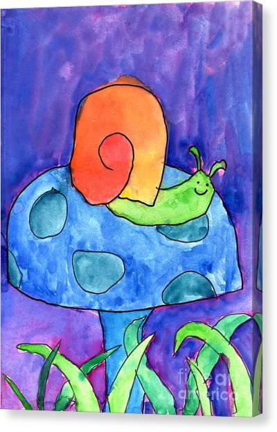 Orange Snail Canvas Print