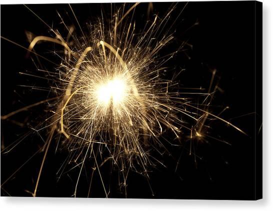 Fireworks Canvas Print - Orange Sparkle by Samuel Whitton