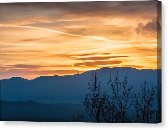 Smoky Mountain Sunrise 3 Canvas Print