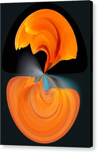 Canvas Print featuring the photograph Orange Tulip Hour Glass by Jim Baker