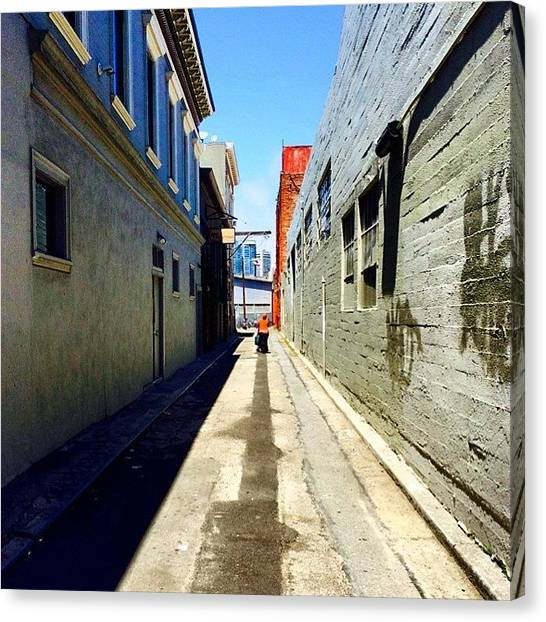 Street Scenes Canvas Print - Alley by Tom Parrette