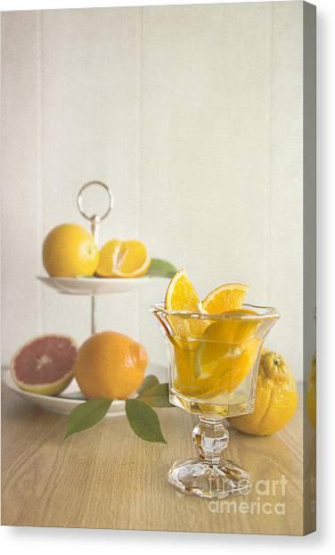 Grapefruit Canvas Print - Orangeade 2 by Elena Nosyreva