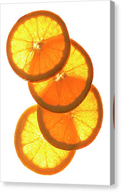 Oranges On White Canvas Print