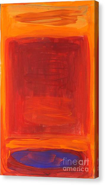 Canvas Print - Oranges Reds Purples After Rothko by Anne Cameron Cutri