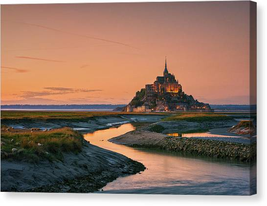 Castle Canvas Print - Orangine by Joaquin Ortiz