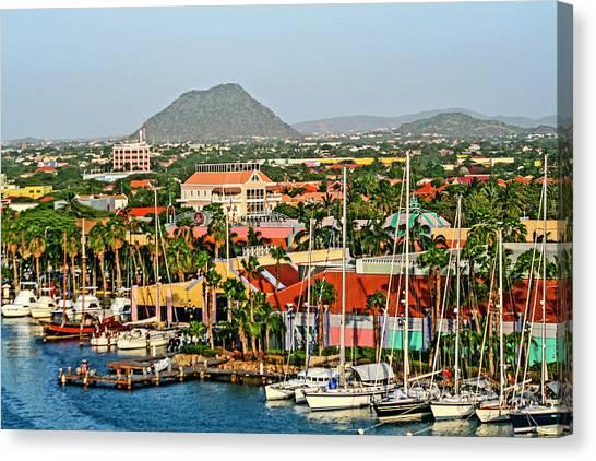 Arid Canvas Print - Oranjestad, Aruba by Jolly Sienda