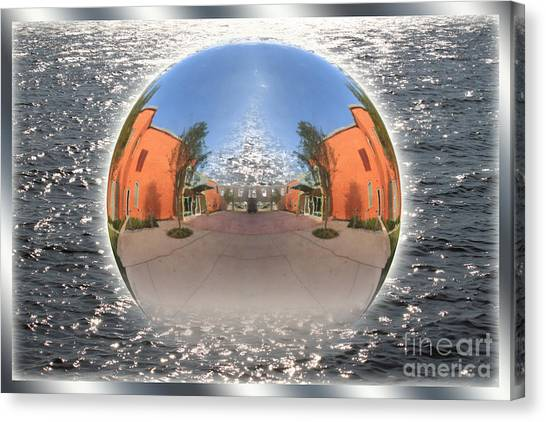 Orb On The Water Canvas Print